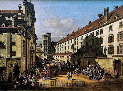 The Dominican's Church in Vienna, c.1758/61 | Bernardo Bellotto| Painting Reproduction