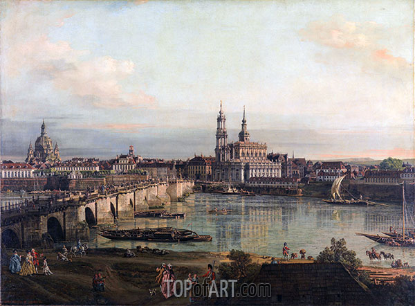 Bernardo Bellotto | Dresden from the Neustädter Bridgehead, 1765