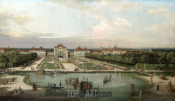 Bernardo Bellotto | Nymphenburg Palace from the Park, 1761