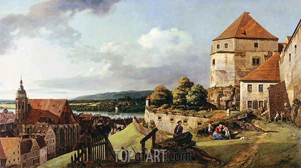 Sonnenstein Fortress above Pirna, c.1753/55 | Bernardo Bellotto | Painting Reproduction