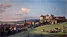 View of Pirna from the Sonnenstein Castle | Bernardo Bellotto
