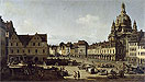 View of the New Market Place in Dresden from the Moritzstrasse | Bernardo Bellotto