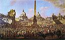 Entry into Rome of Jerzy Ossolinski Emissary of Wladyslaw IV of Poland with Pope Urban VIII | Bernardo Bellotto