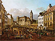 The Freyung in Vienna, View of South-East | Bernardo Bellotto