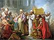Solomon Before the Ark of the Covenant | Blaise Nicolas Le Sueur