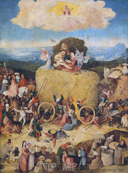 The Haywain, c.1512/15 | Hieronymus Bosch | Painting Reproduction