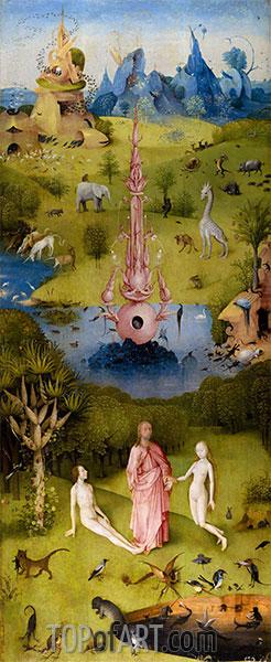 Hieronymus Bosch | Der Garten der Lüste Triptychon (linkes Bild), c.1490/00