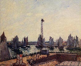 The Inner Port and Pilots Jetty, Le Havre, 1903 by Pissarro | Painting Reproduction