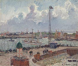 The Inner Harbor, Le Havre, 1903 by Pissarro | Painting Reproduction