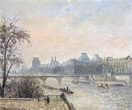 The Seine and the Louvre, Paris, 1903 by Pissarro | Painting Reproduction