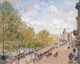 Quai Malaquais, Sunny Afternoon, 1903 by Pissarro | Painting Reproduction