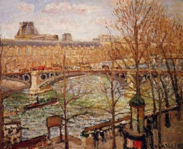 The Pont du Carrousel, Afternoon, 1903 von Pissarro | Gemälde-Reproduktion