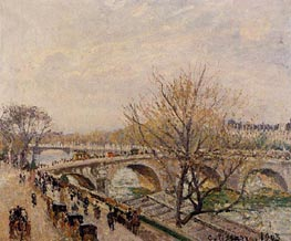 The Seine at Paris, Pont Royal, 1903 by Pissarro | Painting Reproduction