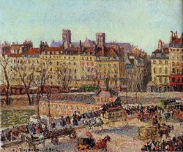 The Baths of Samaritaine, Afternoon | Pissarro | Painting Reproduction