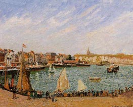 Afternoon, Sun, the Inner Harbor, Dieppe | Pissarro | Gemälde Reproduktion