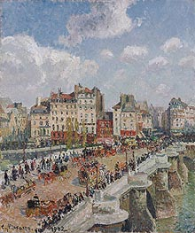 The Pont-Neuf, 1902 by Pissarro | Painting Reproduction