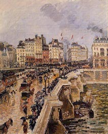 The Pont-Neuf, Rainy Afternoon | Pissarro | Gemälde Reproduktion