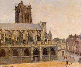 The Church of Saint-Jacques, Dieppe | Pissarro | veraltet