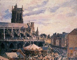 The Fair by the Church of Saint-Jacques, Dieppe | Pissarro | veraltet