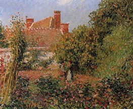 Kitchen Garden at Eragny, Afternoon | Pissarro | Gemälde Reproduktion