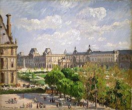 Place du Carrousel, the Tuileries Gardens, 1900 by Pissarro | Painting Reproduction