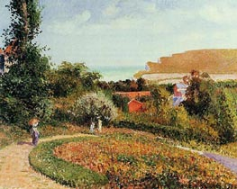 The Garden of the Hotel Berneval, 1900 by Pissarro | Painting Reproduction