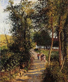 Route de Berneval-le-Petit (Maison Thievain) | Pissarro | Gemälde Reproduktion
