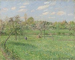 Spring Morning, Cloudy, Eragny | Pissarro | Gemälde Reproduktion