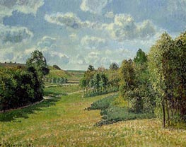Berneval Meadows, Morning | Pissarro | Gemälde Reproduktion