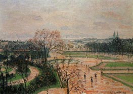 The Tuileries Gardens - Rainy Weather | Pissarro | Gemälde Reproduktion