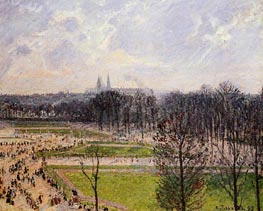 The Garden of the Tuileries on a Winter Afternoon | Pissarro | Gemälde Reproduktion