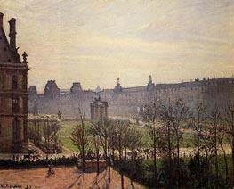 The Carrousel - Autumn, Morning | Pissarro | Gemälde Reproduktion