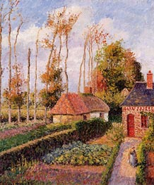 Varengeville, Sunset, 1899 by Pissarro | Painting Reproduction