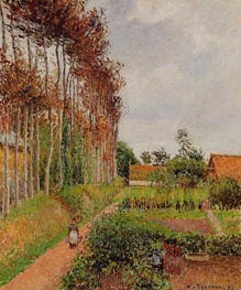 The Steading of the Auberge Ango, Varengeville, 1899 by Pissarro | Painting Reproduction