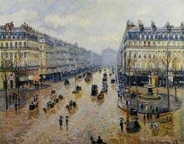 Avenue de l'Opera - Rain Effect | Pissarro | Gemälde Reproduktion