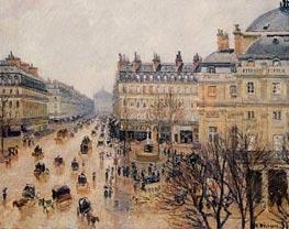 Place du Theatre Francais - Rain Effect | Pissarro | Gemälde Reproduktion