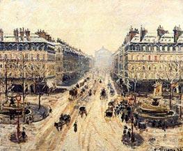 Avenue de l'Opera, Snow Effect | Pissarro | Gemälde Reproduktion