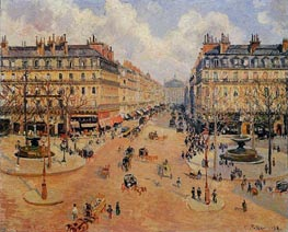 Avenue de l'Opera - Morning Sunshine | Pissarro | Gemälde Reproduktion