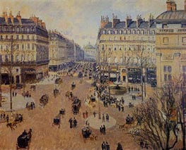 Place du Theatre Francais - Afternoon Sun, Winter | Pissarro | Gemälde Reproduktion