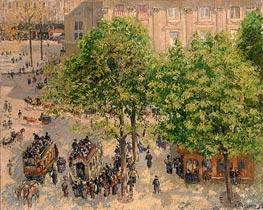 Place du Theatre-Francais. Spring | Pissarro | Gemälde Reproduktion