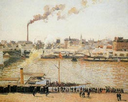 Rouen, Saint-Sever - Morning, 1898 by Pissarro | Painting Reproduction
