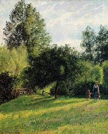 Apple Trees, Sunset, Eragny | Pissarro | Gemälde Reproduktion