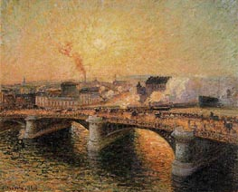 The Boieldieu Bridge, Rouen - Sunset | Pissarro | veraltet