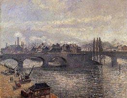 Le Pont Corneille a Rouen, Effet du Matin | Pissarro | Gemälde Reproduktion