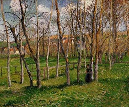 The Meadow at Bazincourt, 1895 by Pissarro | Painting Reproduction