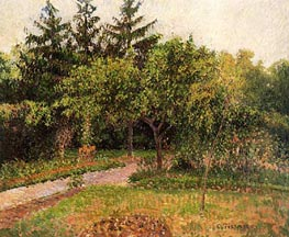 The Garden at Eragny | Pissarro | Gemälde Reproduktion