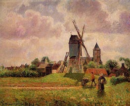 The Knocke Windmill, Belgium | Pissarro | Painting Reproduction