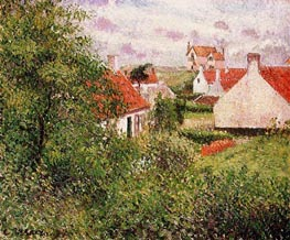 Houses at Knocke, Belgium | Pissarro | Painting Reproduction