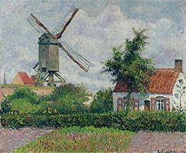 Windmil at Knocke, Belgium, 1894 by Pissarro | Painting Reproduction