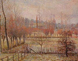 Hoarfrosst, Morning (Snow Effect in Eragny), 1894 by Pissarro | Painting Reproduction